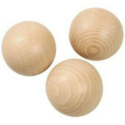 Wooden Ball without Bore size: 40 MM (Pack of 5)