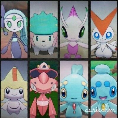 Pokemon 8 pack shiny mythicals level 100 6IVs ultra sun moon game trade