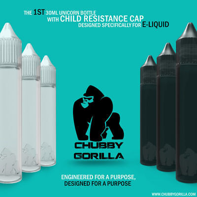 Authentic Chubby Gorilla Unicorn Drip Bottles 15ml 30ml 60ml 100ml 120ml V2 V3