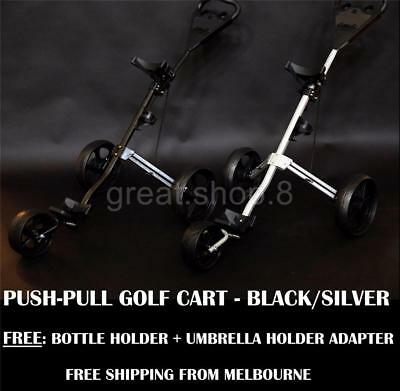 Push-Pull Golf Cart Buggy * Lightweight Design * Foldable  3-Wheels Design