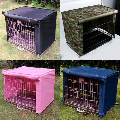 Pet Puppy Dog Cat Cage Cover Waterproof Dustproof Crate Kennel Tent Cover