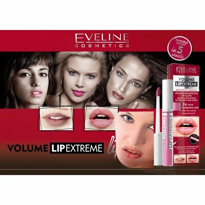 Eveline EXTREME ANY Lip Gloss Enhancer  3x HYALURON BOOSTER Full Sensual Volume
