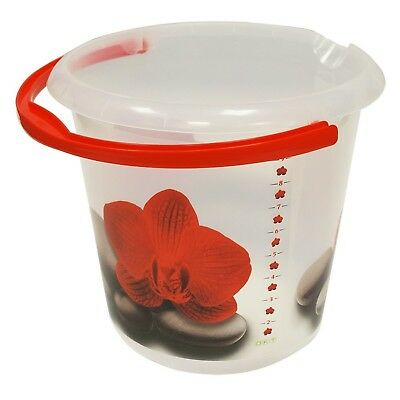 "Keeeper ""Redlotus"" Deco Bucket Transparent 10 Litre"