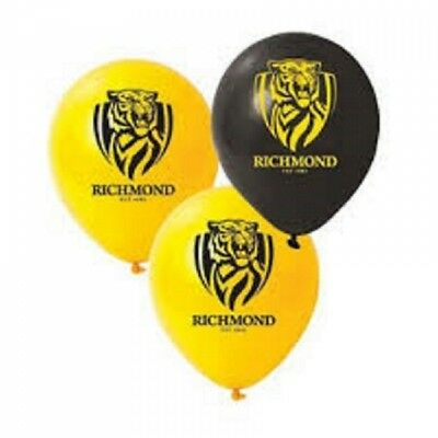Richmond Tigers Official AFL x 5 Balloons Double Sided FREE POST
