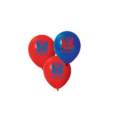 Melbourne Demons Official AFL x 6 Balloons Double Sided FREE POST