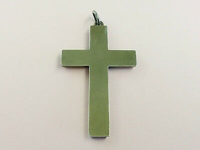 Antique Gilded Sterling Silver Cross Pendant 1880