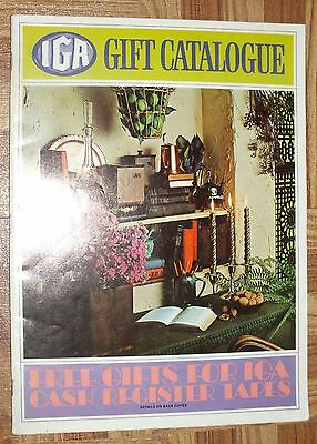 IGA Gift Catalogue Vintage Eatons Cash Register Tapes Grocery Store Catalog BOOK