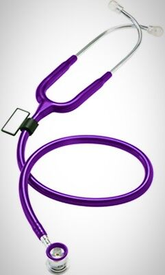NEO Infant and Neonatal Deluxe Lightweight Dual Head Stethoscope Purple New