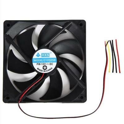 Brushless PC Computer Case Cooling Fan 120mm 120x25mm 12V 4Pin DC 1800PRM Black