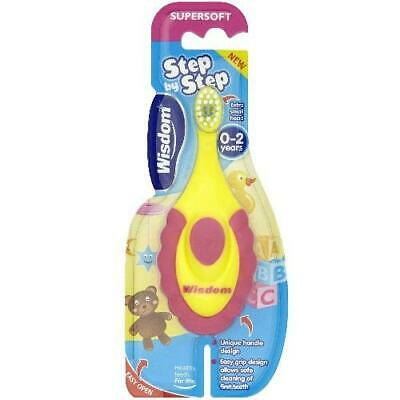 Wisdom Step By Step Super Soft Toothbrush - 0-2 Year Old x 3 Pack