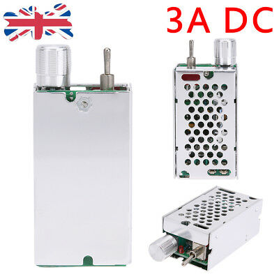 1Pcs 3A DC Motor Speed Controller Reversible Driver Adjustable Speed Switch UK