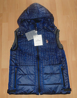 Unused Authentic Moncler Men Hooded Vest Jacket Blue Size EU-Large US-4
