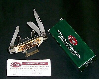 """Case XX 6318 Stockman's Knife Bone Handles 3-1/2"""" Circa-2007 W/Packaging,Papers"""