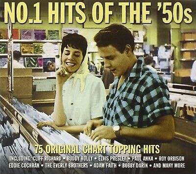 No. 1 Hits of the '50s Box set, Import by Various  Rock  Discs: 3 Audio CD NEW