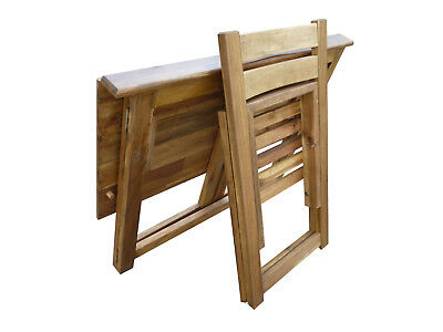 Hardwood Foldable Teen Desk Set (Acacia)