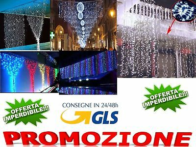 Tenda Luminosa Natalizia TENDA NATALE LUCI 3mx1m 200 led PROLUNGABILE VARI COLOR