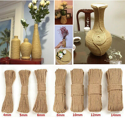 1mm-50mm Thinness 100 Meters DIY Natural Hemp Rope Thickness & Strong Jute Rope
