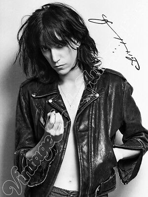 PATTI SMITH - print signed photo - foto con autografo stampato