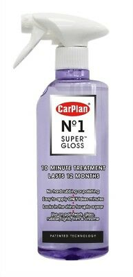 Carplan No1 Super Gloss Car Paintwork Spray Glass Rubber Chrome 600ml - CSG600