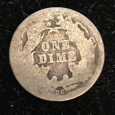 1876-CC Seated Liberty Dime - Scarce KEY DATE - Lower Grade Filler CHECK IT OUT!