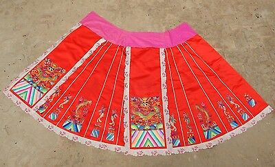 Antique Chinese Beautiful Hand Embroidered Skirt (X342)