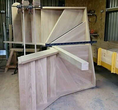6 winder staircase,  made to measure in pine 275mm strings