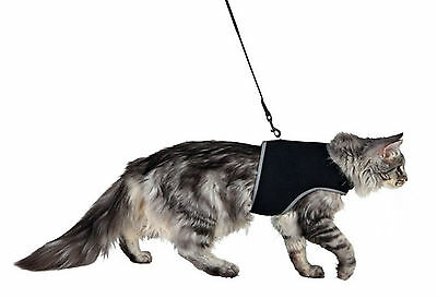 Trixie Cat Soft Harness with Lead Leash Reflective Adjustable Large XL Soft Mesh