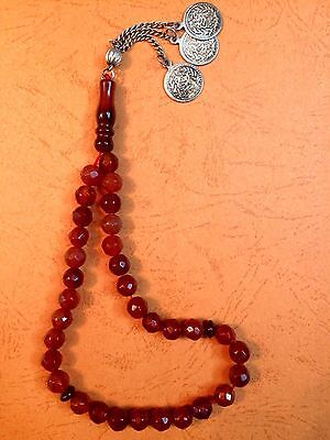 Antique. Crystal Prayer Beads. Rosary.  ( Masbaha )