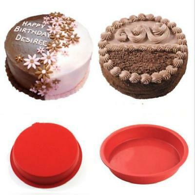 Round Silicone Baking Mold For Fondant Cake Paste Chocolate Mold New N7