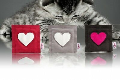 4cats Square Heart – (ONE) Catnip toy
