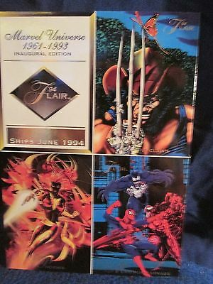 1993 Marvel Universe Flair Inaugural Edition Uncut Promo card
