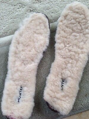 Hunter Authentic Shearling Boot Insole Liner M Medium Women's 8 Mens 7 Leather