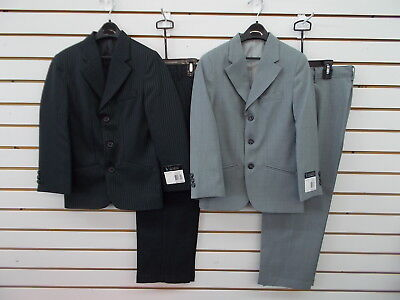 Boys Young Kings by Steve Harvey $100 2pc Black or Lt Grey Suits Size 8 - 20