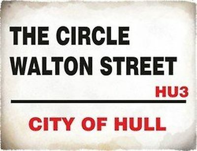 4788 The Circle Walton Street City Of Hull England Steet Sign Funny Vintage S...