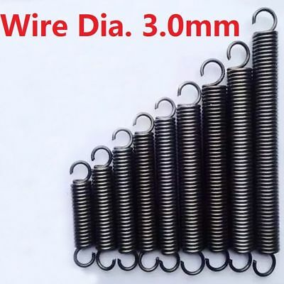 Expansion Extension Tension Springs Spring Wire Dia.3mm Length 50/100/200-300mm