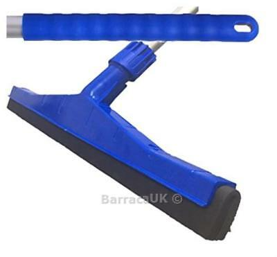 Blue Professional Hard Floor Cleaning Squeegee & Strong Alloy Handle For ...