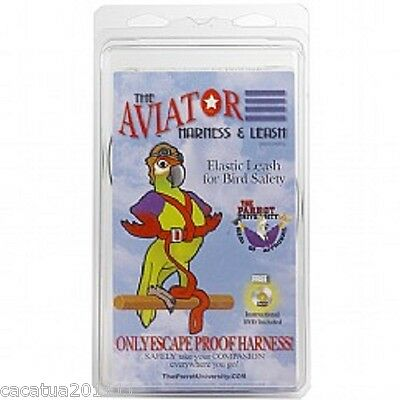 The Aviator Parrot Harness & Leash - Extra Large - Silver