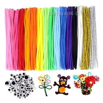 JPSOR Pipe Cleaners 300 PCS DIY Chenille Stem Set, 15 Colours, with 100 ...