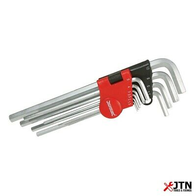 10 Piece Silverline Expert Metric Hex Hexagon Allen L Key Tool Set 1.5mm to 10mm