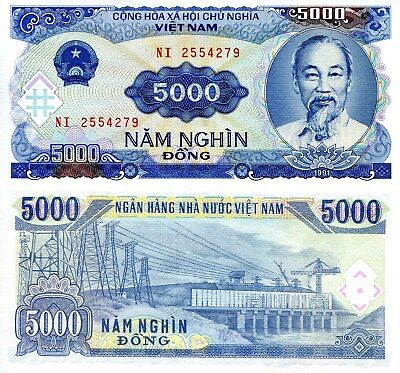 VIETNAM 5000 Dong Banknote World Paper Money UNC Currency Pick p108 Ho Chi Minh