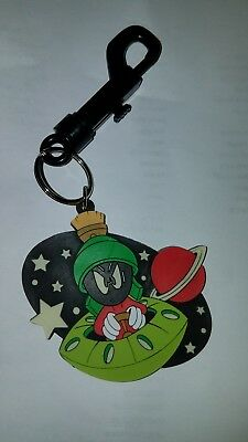 Marvin the Martian Glow in the Dark Vinyl Keychain *NEVER USED* 1998