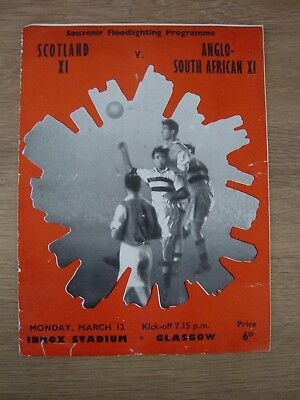 1956 Scotland X1 V Anglo-South African X1 @ Glasgow Rangers