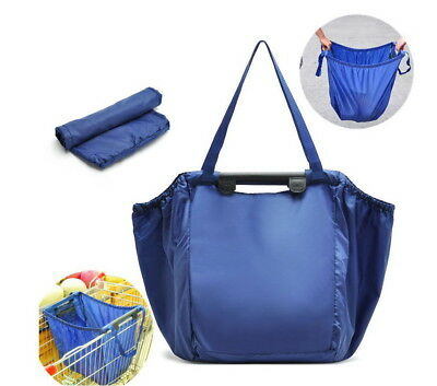 Portable Large Foldable Clip to Cart Shopping  Tote Reusable Multifuntional Bag