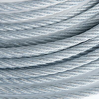 """1/4"""" Galvanized Aircraft Cable Steel Wire Rope 7x19 (150 Feet)"""