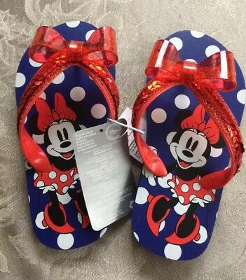 NWT Disney Store Rapunzel Flip Flops Sandals Shoes Girls Princess Tangled