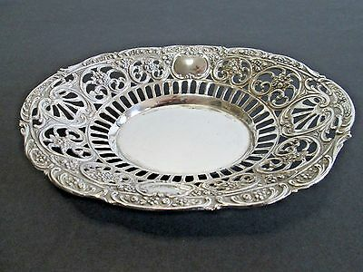 Antique GERMAN 800 Silver Reticulated Bowl