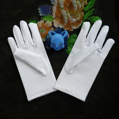 Elastic 2017 Boy Girl White Satin Gloves Short Cute Flower Dance Kids Sunstore
