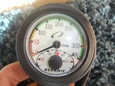 oceanic single scuba dive diving PRESSURE GAUGE WITH hp hose