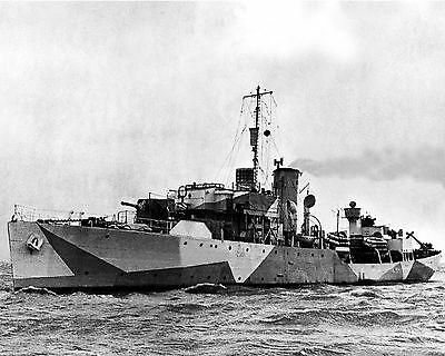 Royal Canadian Navy Corvette Hmcs Brandon K149 With Stats And History Sheet