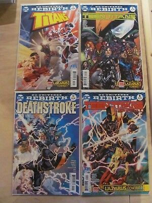 Lazarus Contract Parts 1 2 3 4 Complete Series Teen Titans Deathstroke Variants